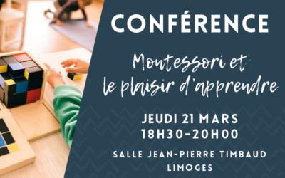 Conférence : Montessori, le plaisir d'apprendre
